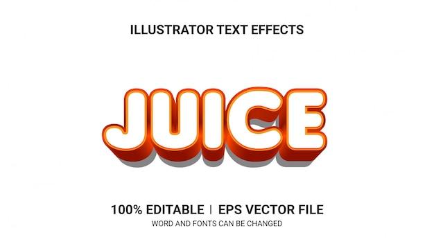 Edytowalne efekty tekstowe - efekty tekstowe juice