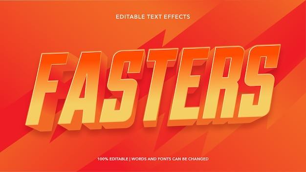 Edytowalne efekty tekstowe fasters