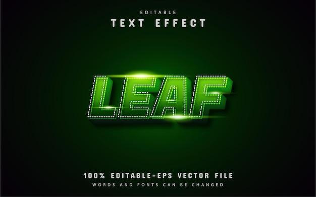 Edytowalne efekty tekstowe liścia