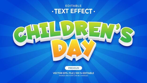 Edytowalne efekty tekstowe na dzień dziecka
