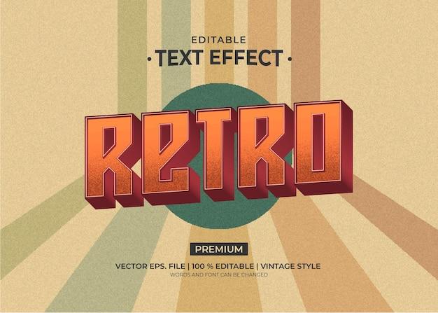 Edytowalne efekty tekstowe w stylu retro vintage