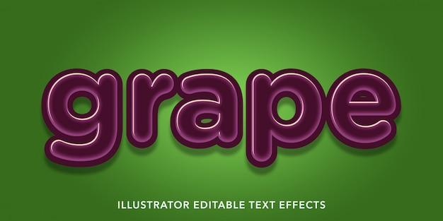 Edytowalne efekty tekstowe winogron