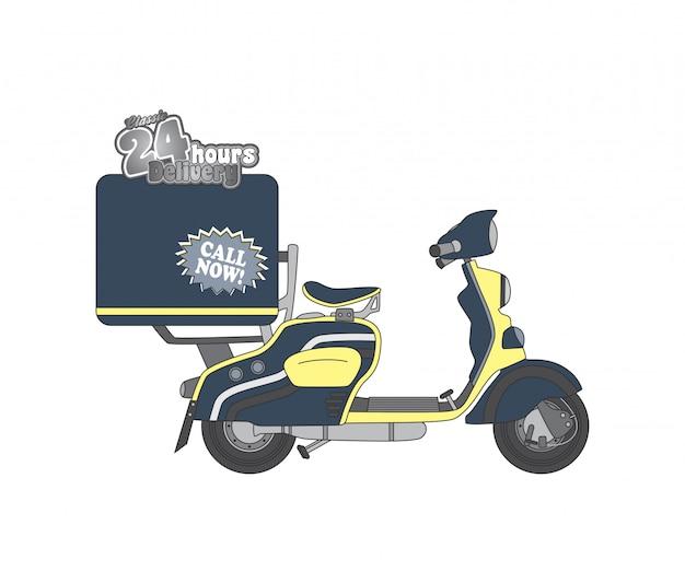 Edytowalne motocykl motyw wektor grafika ilustracja