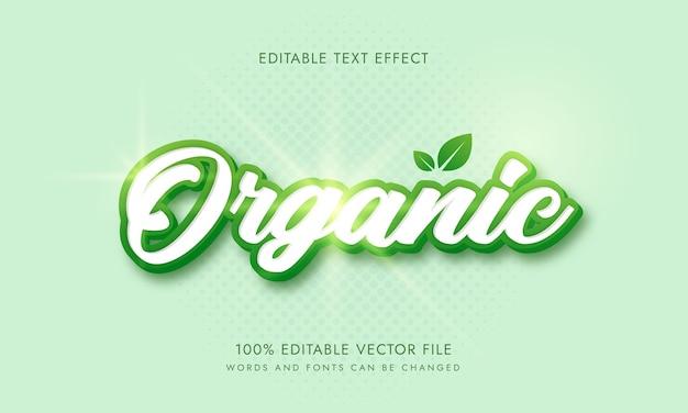Edytowalne słowa i czcionki w stylu ekologicznego tekstu bio natury