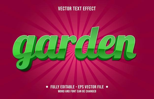 Edytowalne szablony efektów tekstowych ogród zielony gradient w nowoczesnym stylu