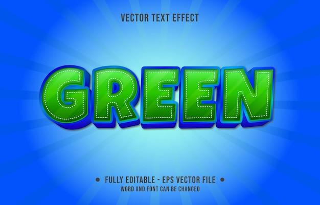 Edytowalne szablony efektów tekstowych zielony kolor gradientu w nowoczesnym stylu