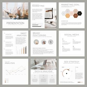 Edytowalne szablony profesjonalnego marketingu biznesowego