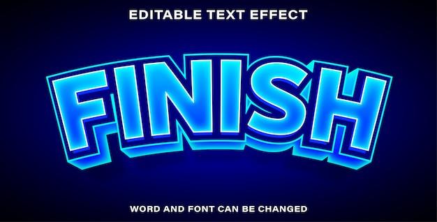 Edytowalne wykończenie efektu tekstu