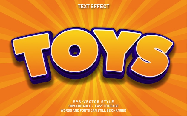 Edytowalne zabawki z efektem tekstowym