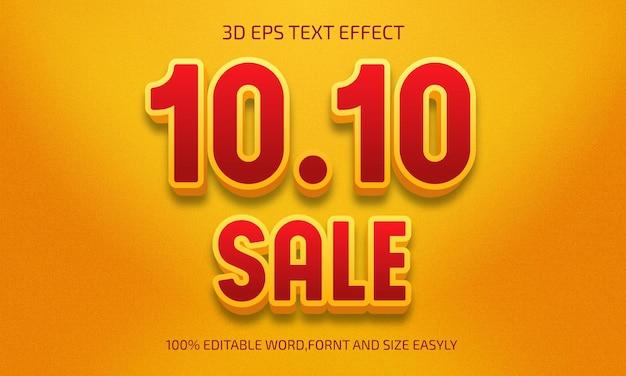 Edytowalny 10 10 wyprzedaż stylu efektu tekstu 3d