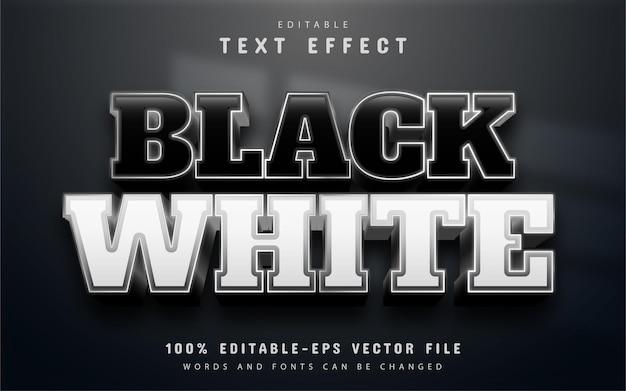 Edytowalny czarno-biały efekt tekstowy