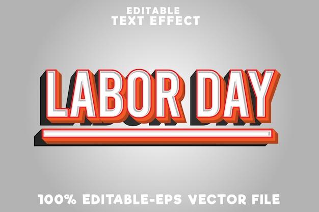 Edytowalny dzień pracy z efektem tekstu w nowoczesnym stylu dnia pracy