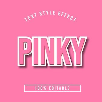 Edytowalny efekt 3d różowego tekstu