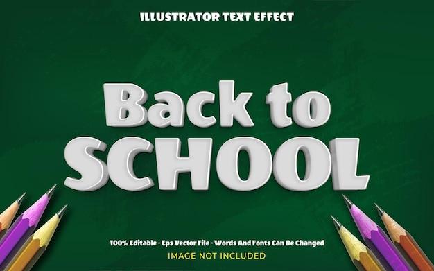 Edytowalny efekt 3d z powrotem do szkoły