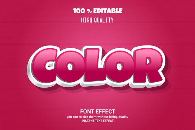 Edytowalny efekt czcionki, styl tekstu w kolorze