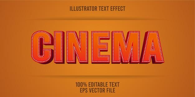 Edytowalny efekt kinowy stylu kinowego