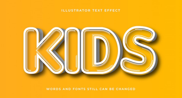 Edytowalny efekt komiksowy dla dzieci