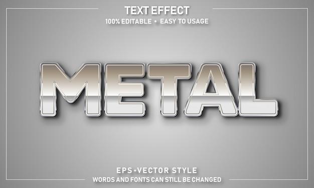 Edytowalny efekt metalowego tekstu