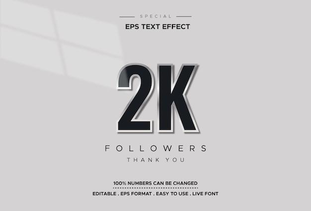Edytowalny efekt numeryczny 2k stylu tekstu