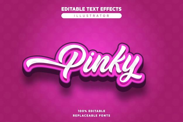 Edytowalny efekt pinky text