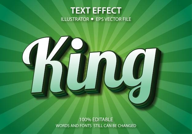 Edytowalny efekt stylu tekstu cute king
