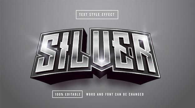 Edytowalny efekt stylu tekstu dark silver