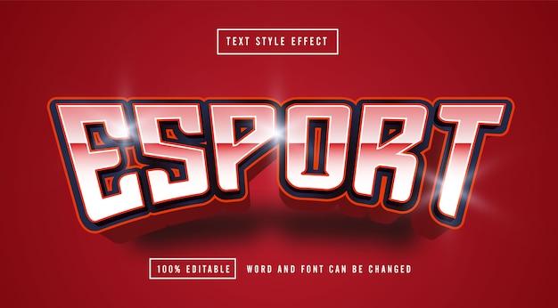 Edytowalny efekt stylu tekstu esport red