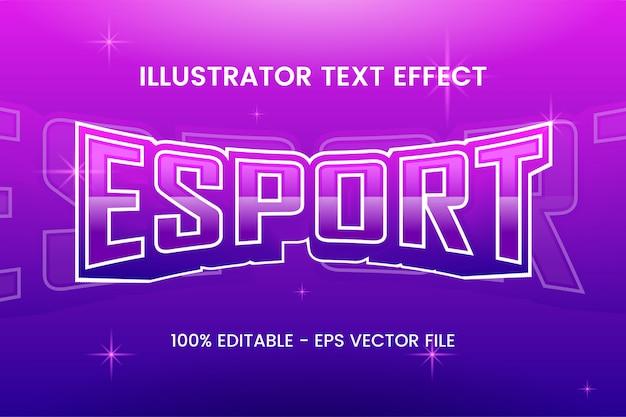 """Edytowalny efekt stylu tekstu """"esport"""""""