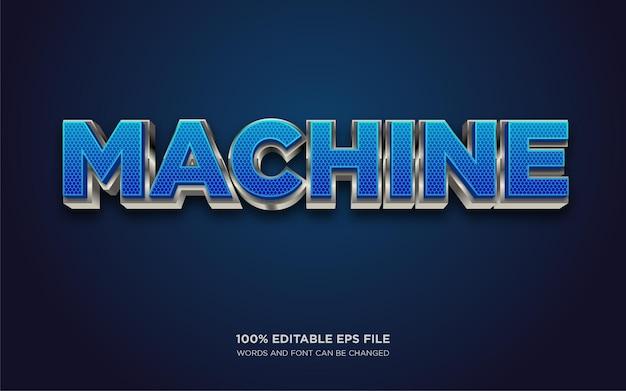 Edytowalny efekt stylu tekstu maszynowego 3d