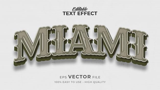 Edytowalny efekt stylu tekstu - motyw miami retro stylu tekstu