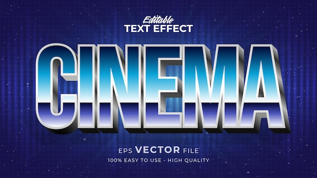 Edytowalny efekt stylu tekstu - motyw stylu tekstu cinema retro