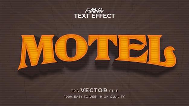 Edytowalny efekt stylu tekstu - motyw stylu tekstu luxury retro motel