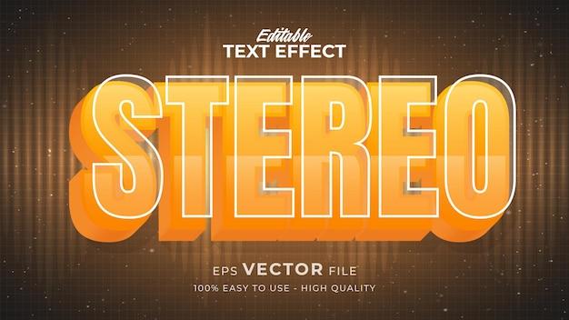 Edytowalny efekt stylu tekstu - motyw w stylu retro tekstu