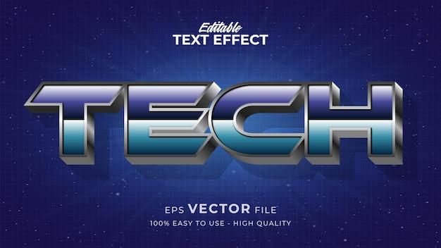 Edytowalny efekt stylu tekstu - motyw w stylu tekstu tech retro