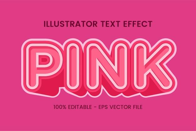 """Edytowalny efekt stylu tekstu """"pink"""""""