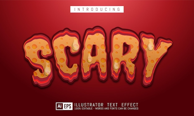 Edytowalny efekt stylu tekstu potwora