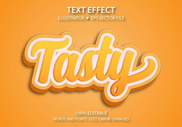 Edytowalny efekt stylu tekstu smaczny