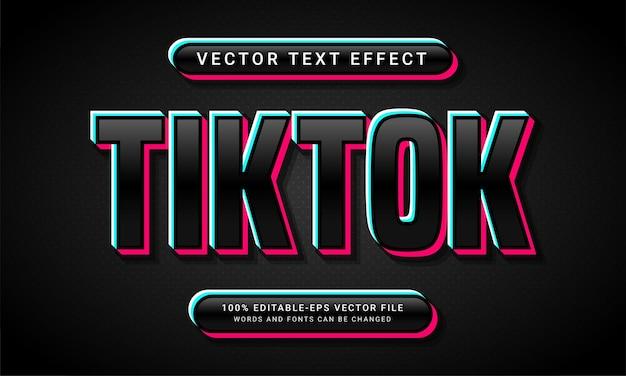 Edytowalny efekt stylu tekstu tiktok o tematyce minimalistycznej czarnej kolorystyce