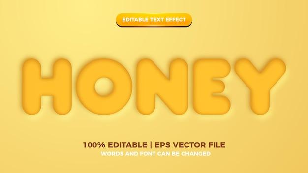 Edytowalny efekt stylu tekstu z żółtym miodem
