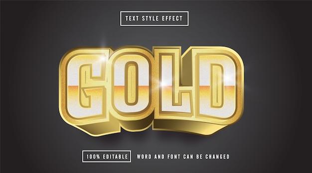 Edytowalny efekt stylu tekstu złota