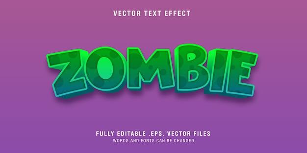 Edytowalny efekt stylu tekstu zombie