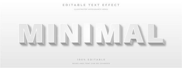 Edytowalny efekt tekstowy 3d biały styl tekstu