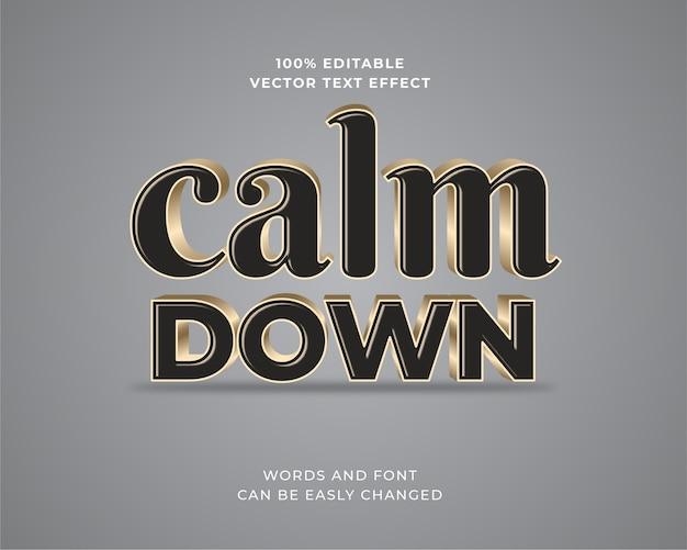 Edytowalny efekt tekstowy 3d classic black and gold