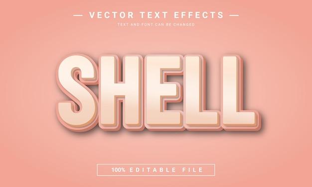 Edytowalny efekt tekstowy 3d powłoki