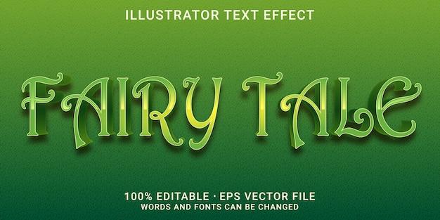 Edytowalny efekt tekstowy 3d - styl bajki