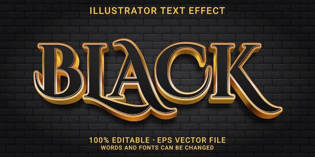 Edytowalny efekt tekstowy 3d - styl czarny