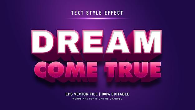 Edytowalny efekt tekstowy 3d wytłoczony styl