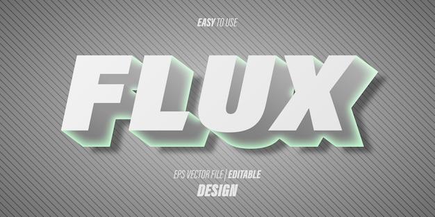 Edytowalny efekt tekstowy 3d z nowoczesnymi futurystycznymi czcionkami i delikatnymi szarymi gradientowymi kolorami z eleganckim motywem.
