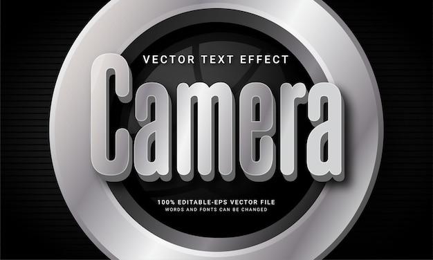 Edytowalny efekt tekstowy aparatu z motywem fotografii