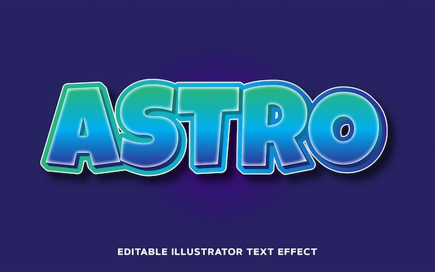 Edytowalny efekt tekstowy - astro cartoon text style